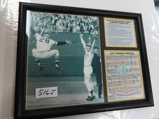 "11""x14"" Framed 1971 Pirates World Series Display."