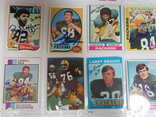 All One Money: Eight (8) Signed Green Bay Packers Cards, nice