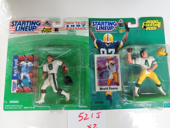 TWO (2) X the Money: Starting Line-Ups QBs, 2000 brett Favre and 1997 Mark Brunell. unopened