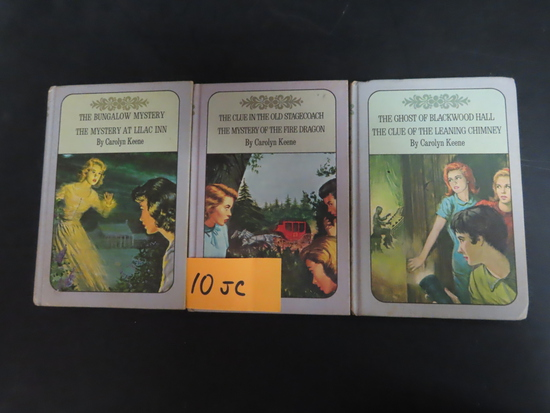 Three (3) For One Money: 1960's Nancy Drew mysteries by Carolyn Keene. hardbacks
