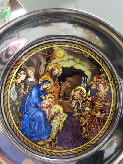 "2005 Pewter and Stained Glass 10"" plate: The Epiphany #2893. U.S. Historical Society. high quality."