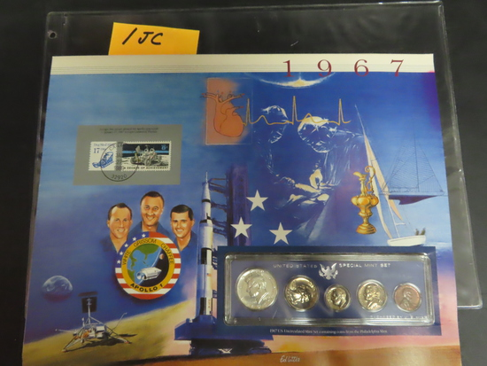 1967 Special Mint Set in Display, 40% Silver Kennedy Half Dollar!