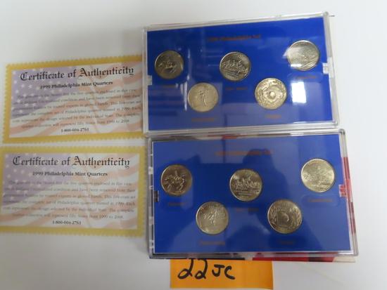 TWO (2) X The Money: 1999 Philly Quarter Set, UNC. $1.25 face value each set.