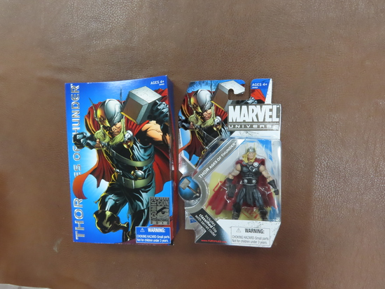2010 San Diego ComicCon THOR, Unopened Figure, Marvel. only avail. at 2010 convention