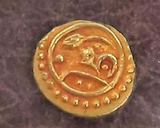 Gold Plated Silver: 1850's India Fanam