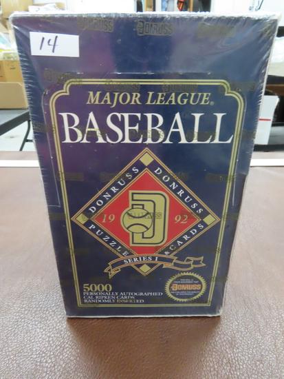 1992 Donruss Baseball Factory Sealed Unopened Box with 36 unopened packs, Series I
