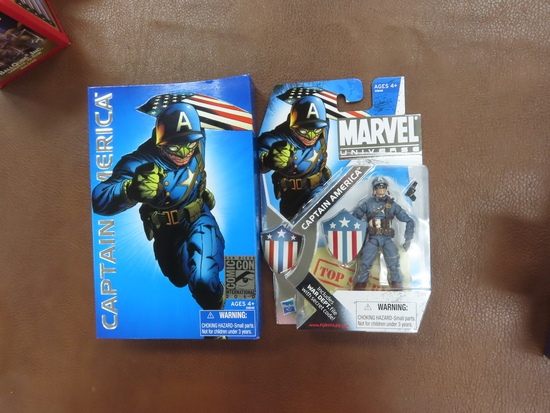2010 San Diego ComicCon Captain America, Unopened Figure, Marvel. only avail. at 2010 convention