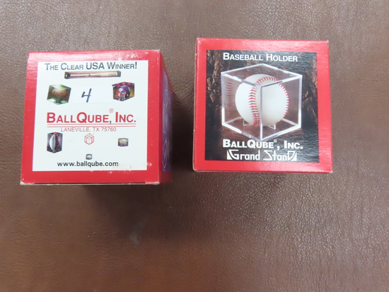 TWO (2) Ball Qubes For One Money, UNUSED. Laneville, TX. one is a grandstand.