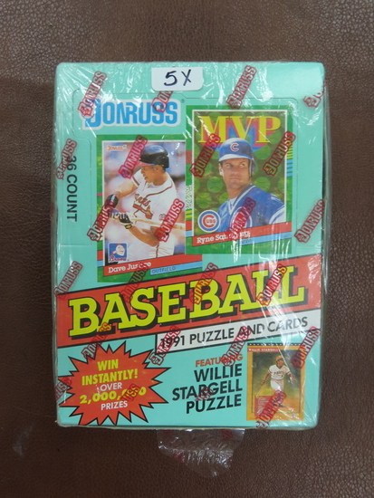 Factory Sealed, Unopened. 1991 Donruss Baseball, Series 2 Box with 36 unopened packs