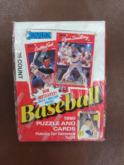 1990 Donruss Baseball Factory Sealed Unopened Box with 36 unopened packs