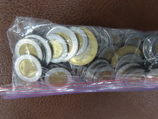 One Pound of Mexican Bi-Metal Coins.