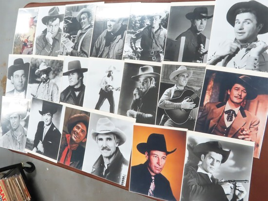 Collection of Cowboys, Publicity Photos, All Wearing Cowboy Hats, All One $