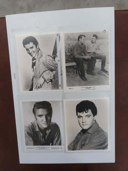 Four (4) Elvis Publicity Photos For one Money
