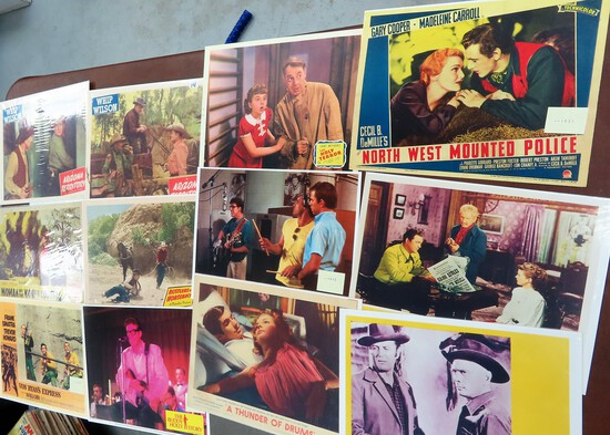 """Collection of 11""""x14"""" Movie Lobby Cards, Age and Authenticity Unknown. Estate Find! all one $"""