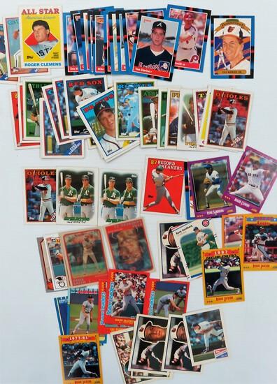 Seventy (70) 1988 Baseball Cards incl Tom Glavine, Ozzie Smith, Mike Schmidt, Cal Ripken Jr.