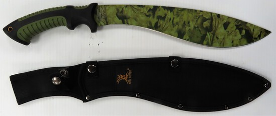 "20"" Elk Ridge Fixed Blade Knife with sheath, unused"