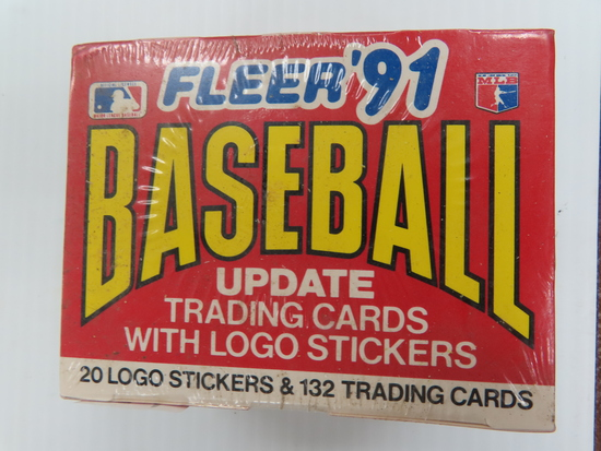 Factory Sealed: Unopened 1991 Fleer Baseball update Set (132 cards) with Bagwell and Pudge Rookies