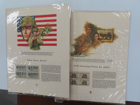 Six (6) pages For One Money: Stamp Displays incl Medal of Honor, Vietnam Veterans, German Immigratio