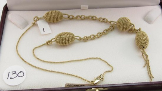 14K y/g Fashion Necklace by Joseph Aviv, 22g