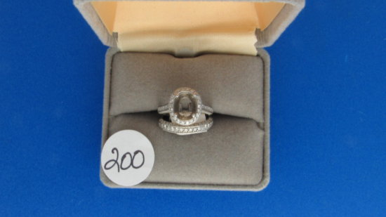 18K w/g Estate 2ct t.w. Diamond 2 ring wedding set