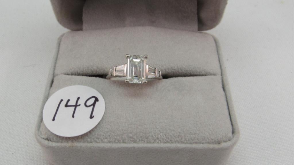 14K 1.84ct Emerald Cut Diamond Ring, GIA
