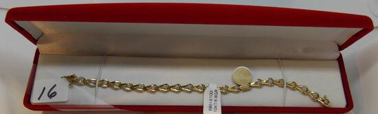 LADIES 10K Y/G .44CT T.W. DIAMOND ESTATE BRACELET 6.8GR