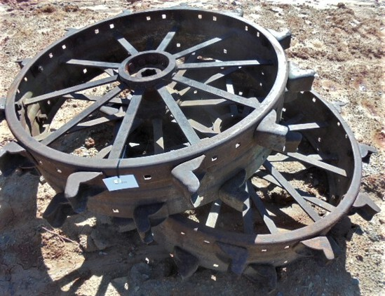 Pair of Steel Wheels fits D John Deere
