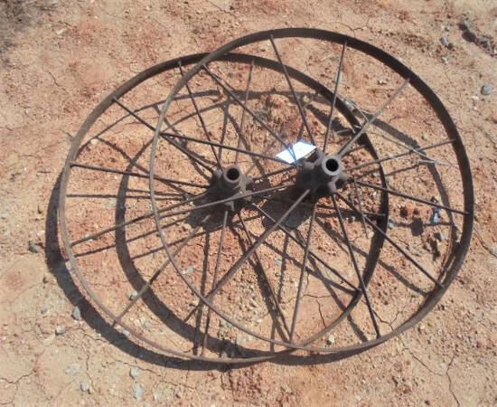 Pair of Steel Spoke Wheels