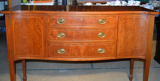 Vintage Biggs, Richmond VA, Federal Style Inlaid Mahogany Sideboard