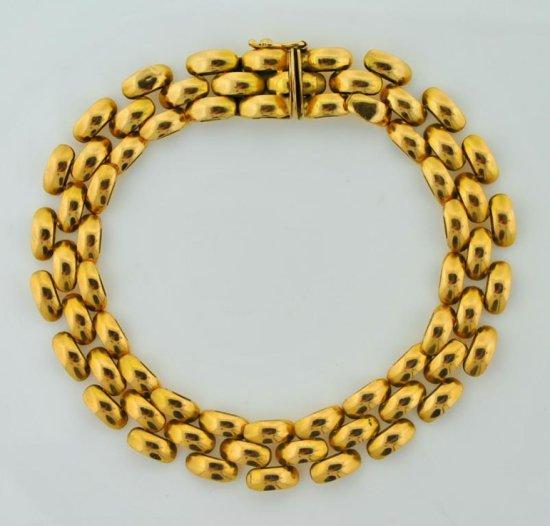 14K Yellow Gold Bracelet, 8 Inches L