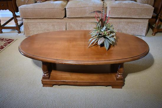 Athens Maple Oval Coffee Table
