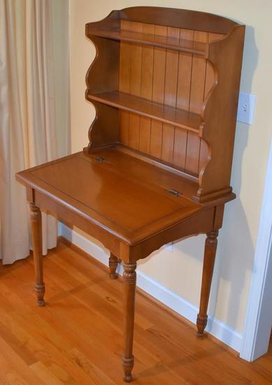 Vintage Maple Slant / Lift Top Desk W/ Hutch