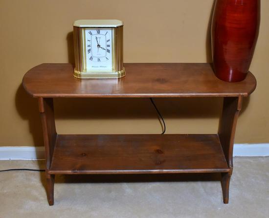 Pine Side Table Bookshelf