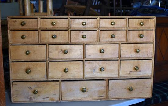 Antique 18th C. Apothecary Cabinet with Cut Nails