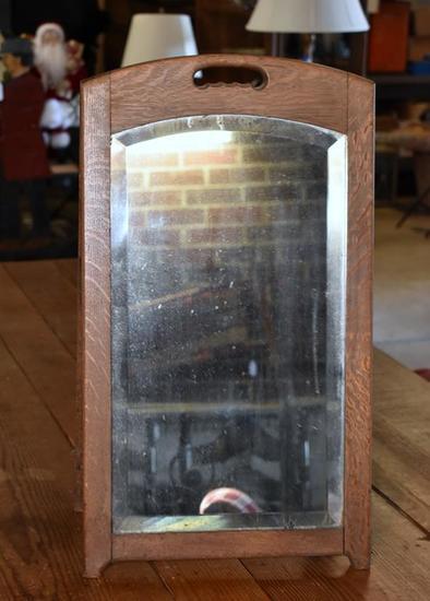 Antique 19th C. Shoe Store Floor Mirror