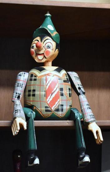 Antique Large Wooden Pinocchio Marionette/Puppet