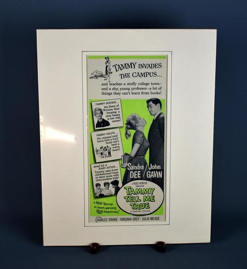 """Tammy Tell Me True"" Movie Release Vintage Print Ad"