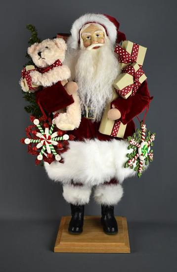 """Lynn Haney Collection Large Santa Doll, """"My Christmas Bear,"""" Signed by the Artist"""