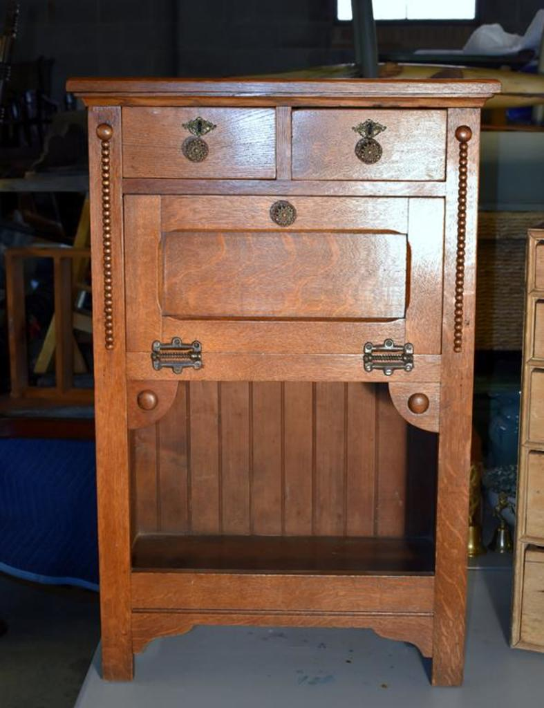 Antique 19th C. Barber's Cabinet from Barber Shop, Downtown Asheville, NC