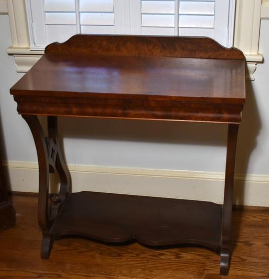 Antique Flame Mahogany Dining Buffet / Dry Bar