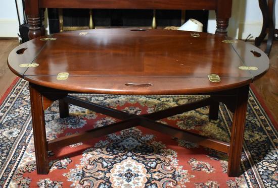 Classic Mahogany Butler's Tray Coffee Table