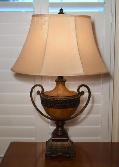 Contemporary Urn Style Table Lamp (MATCHES LOTS 15 & 16)