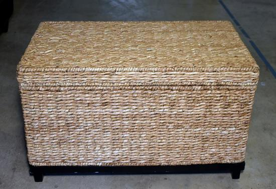 Jute / Sea Grass Footed Storage Trunk