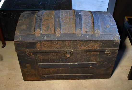 Antique 19th C. Domed Top Trunk