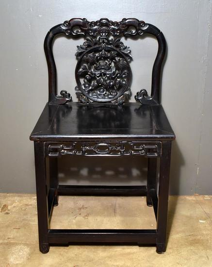 Antique 19th C. Carved Chinese Chair