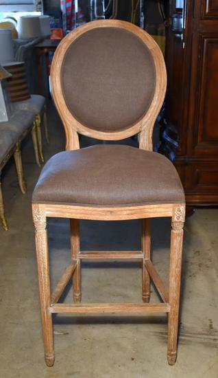 Light Finish Hooker Furniture Contemporary Bar Height Chair