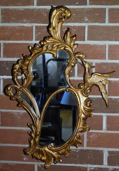 Vintage Gilt Phoenix Accent Wall Mirror