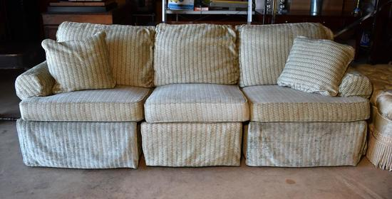 Contemporary 3-Section Triple Recliner Sofa by Motioncraft