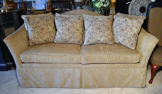 Handsome Hickory Chair Sofa with 8 Accent Pillows