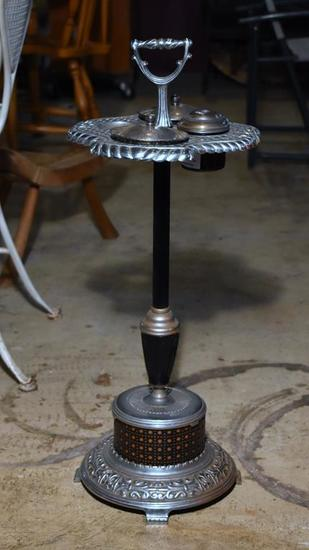 Antique Metal Smoker's Stand